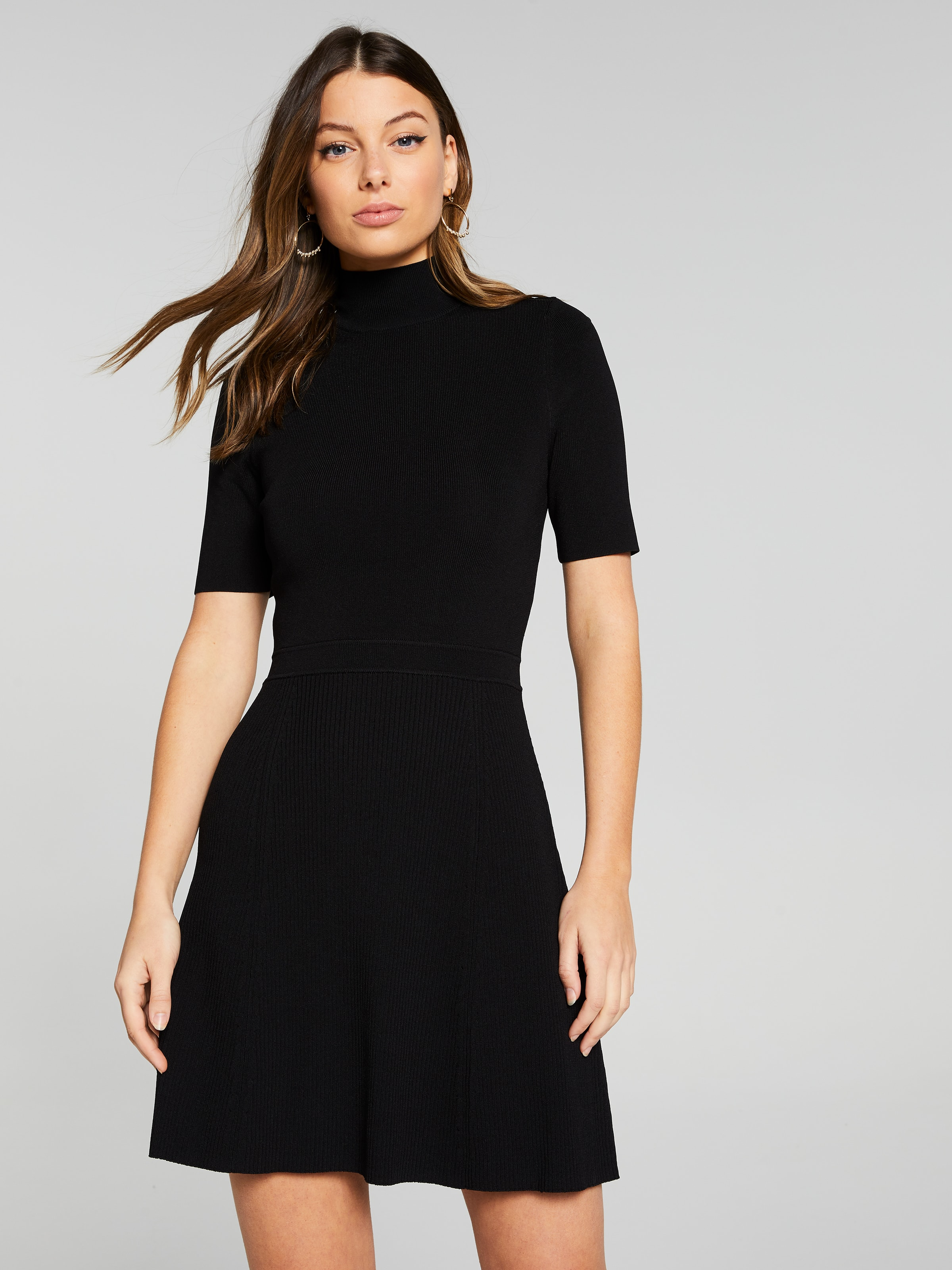 Tanya Turtle Neck Milano Dress