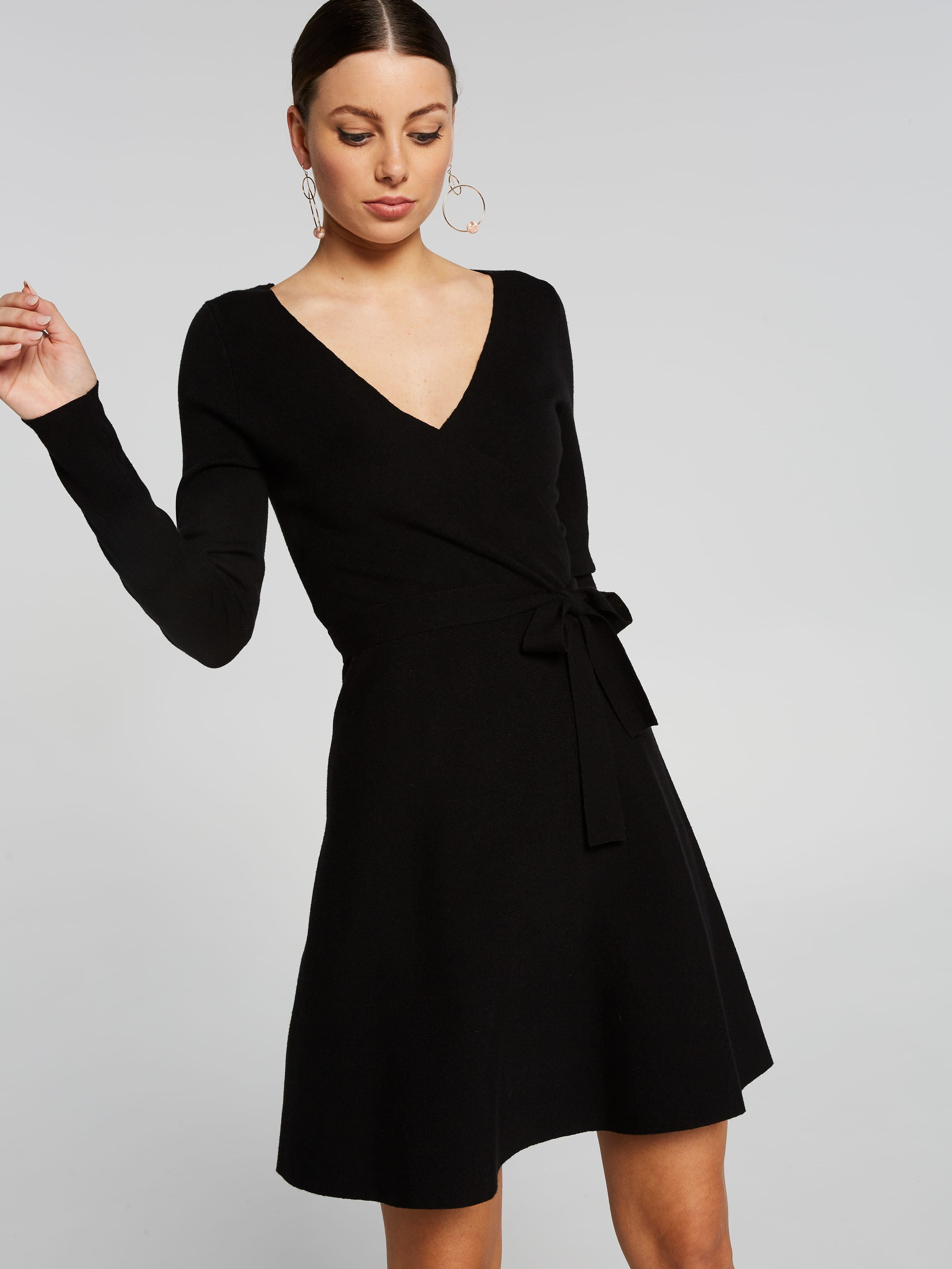 Whitney Wrap Knit Dress