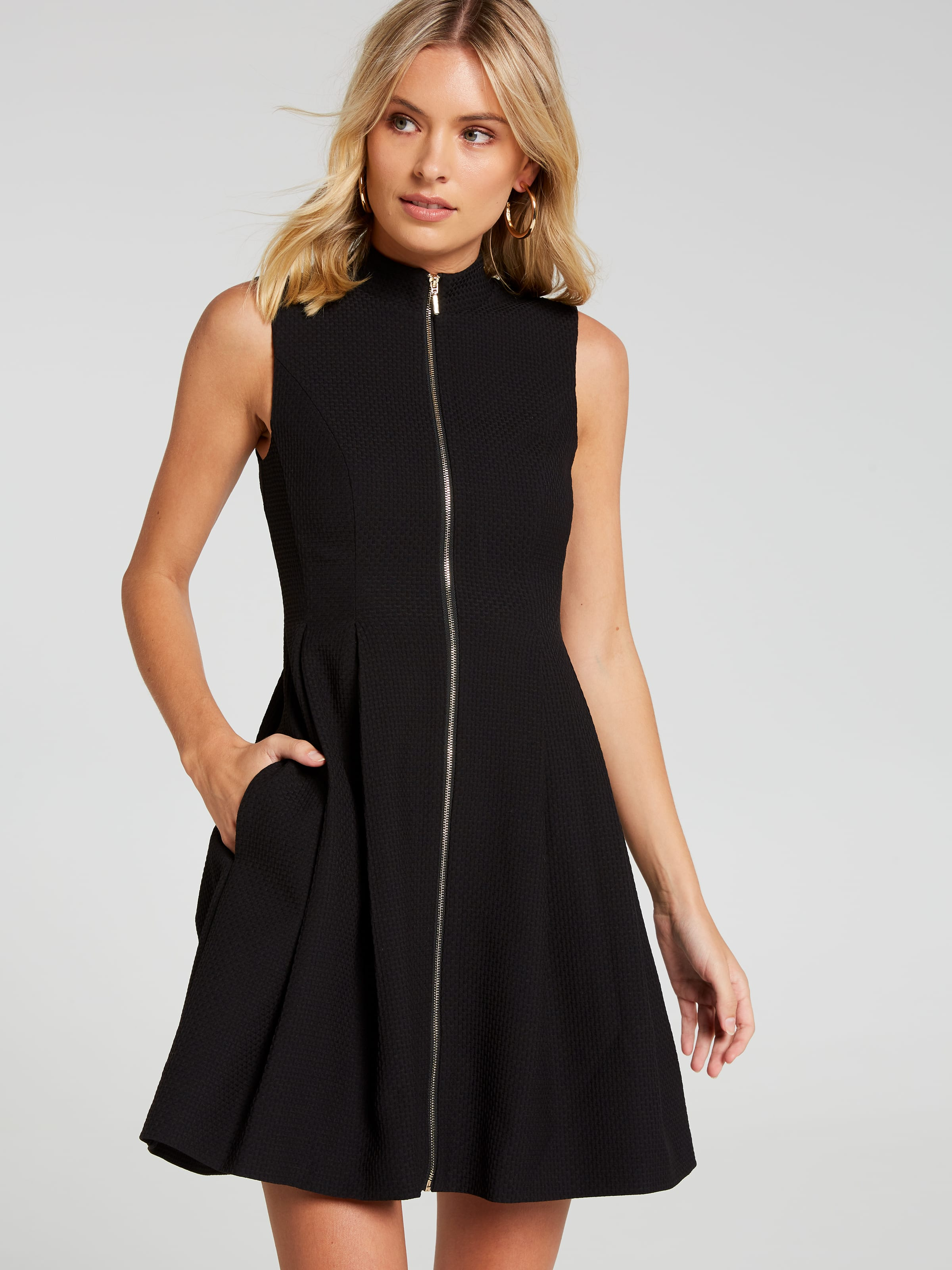 Adelaide High Neck Fit & Flare Dress