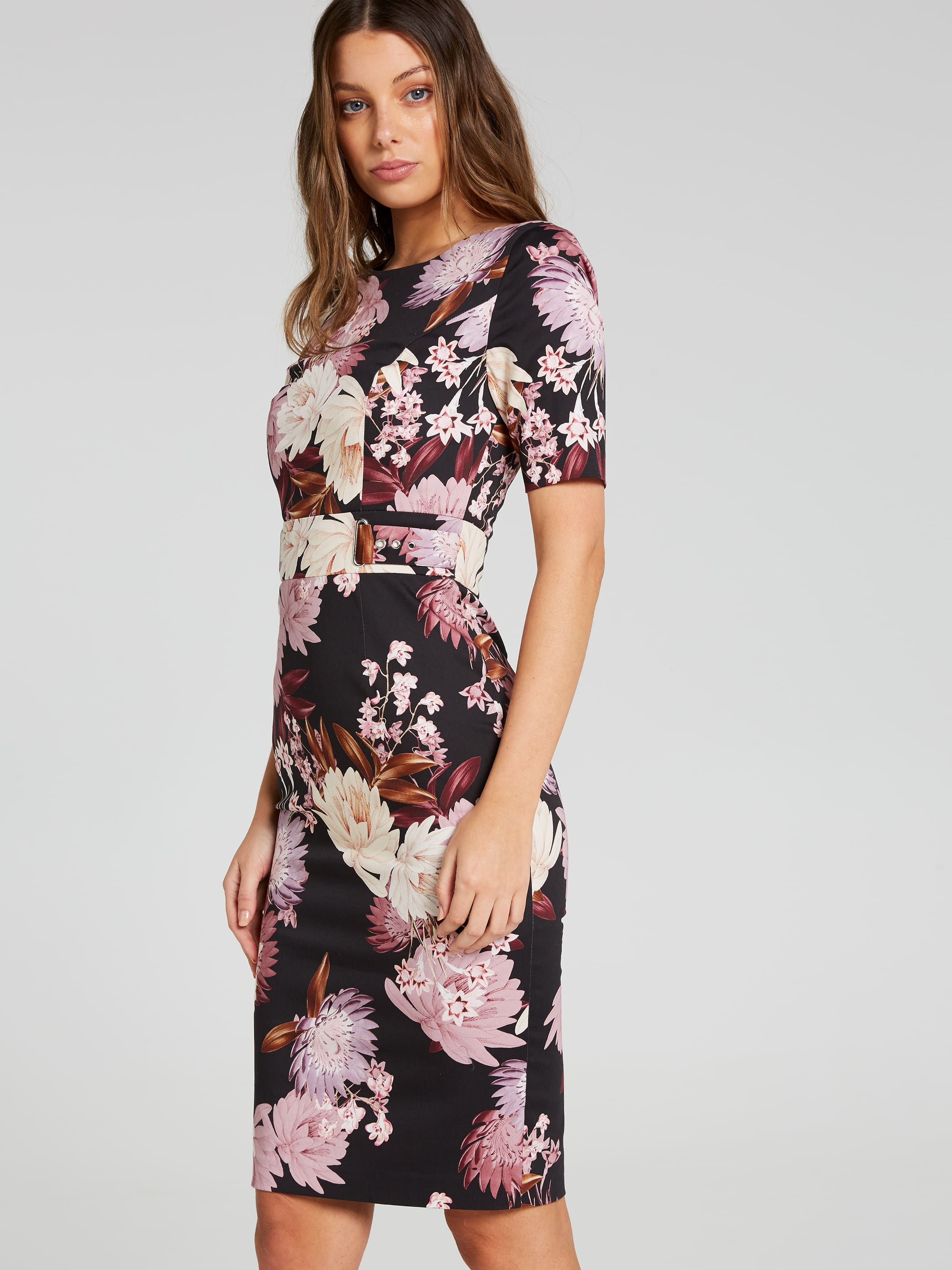 Heather Rose Garden Pencil Dress